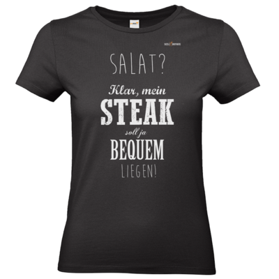 Motiv: T-Shirt Damen Premium FAIR WEAR - SizzleBrothers - Grillen - Salat Steak bequem