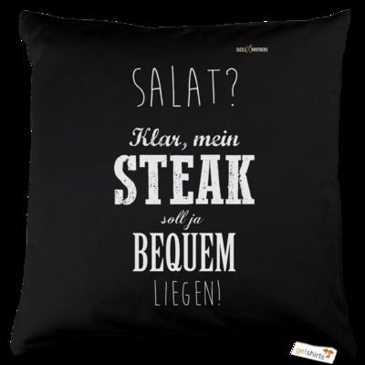 Motiv: Kissen Baumwolle - SizzleBrothers - Grillen - Salat Steak bequem