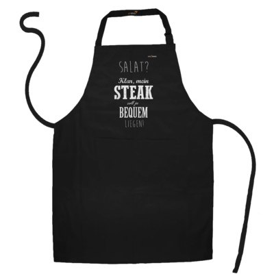 Motiv: Schürze - SizzleBrothers - Grillen - Salat Steak bequem