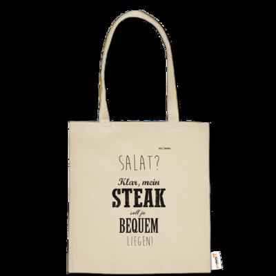 Motiv: Baumwolltasche - SizzleBrothers - Grillen - Salat Steak bequem
