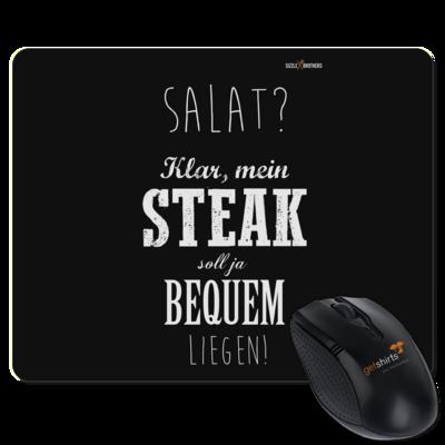 Motiv: Mousepad Textil - SizzleBrothers - Grillen - Salat Steak bequem