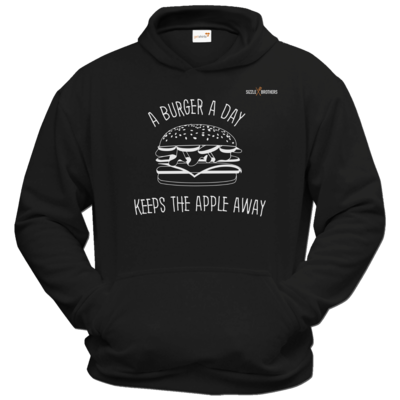 Motiv: Hoodie Classic - SizzleBrothers - Grillen - Burger Apple