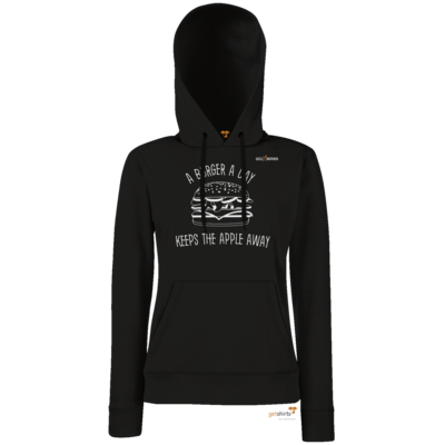 Motiv: Hoodie Damen Classic - SizzleBrothers - Grillen - Burger Apple