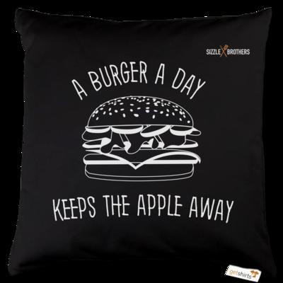 Motiv: Kissen Baumwolle - SizzleBrothers - Grillen - Burger Apple