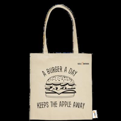 Motiv: Baumwolltasche - SizzleBrothers - Grillen - Burger Apple