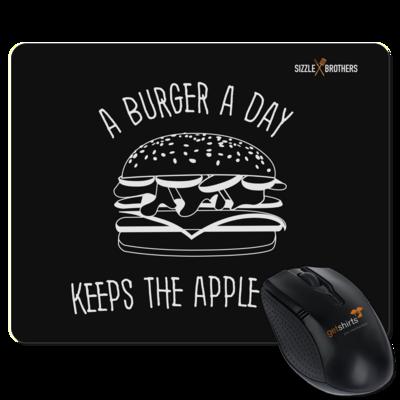 Motiv: Mousepad Textil - SizzleBrothers - Grillen - Burger Apple