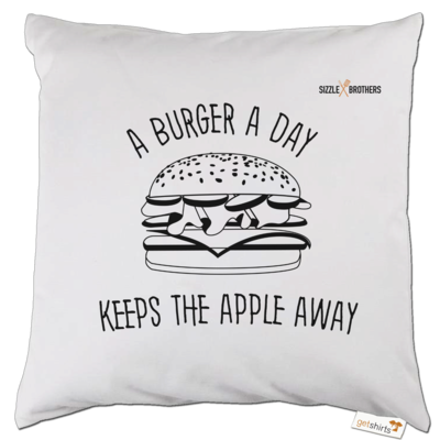 Motiv: Kissen - SizzleBrothers - Grillen - Burger Apple
