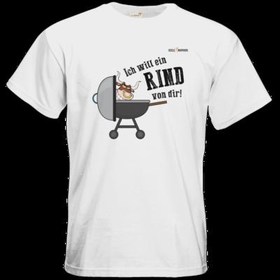 Motiv: T-Shirt Premium FAIR WEAR - SizzleBrothers - Grillen - Ich will ein Rind