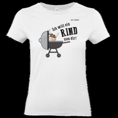 Motiv: T-Shirt Damen Premium FAIR WEAR - SizzleBrothers - Grillen - Ich will ein Rind