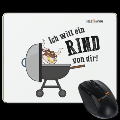 Motiv: Mousepad Textil - SizzleBrothers - Grillen - Ich will ein Rind