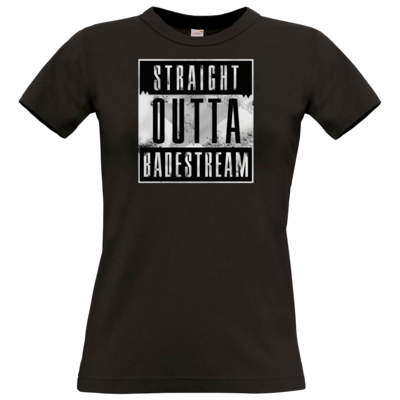 Motiv: T-Shirt Damen Premium FAIR WEAR - Straight Outta Badestream