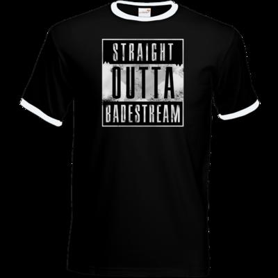 Motiv: T-Shirt Ringer - Straight Outta Badestream