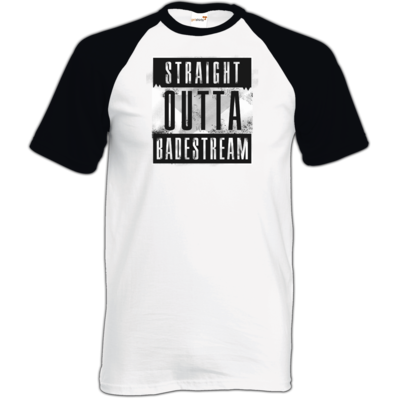 Motiv: TShirt Baseball - Straight Outta Badestream