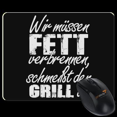 Motiv: Mousepad Textil - SizzleBrothers - Grillen - Fett verbrennen