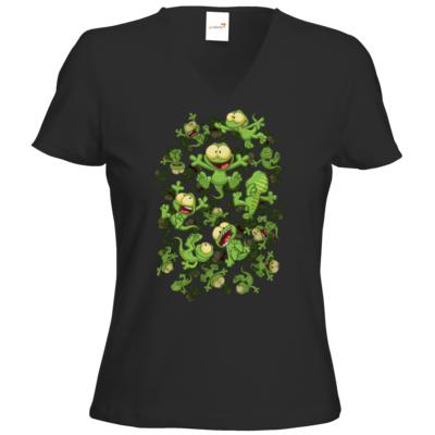 Motiv: T-Shirt Damen V-Neck Classic - Lurchregen