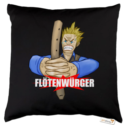 Motiv: Kissen Baumwolle - Floetenwuerger