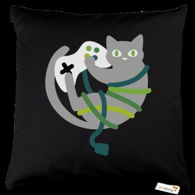 Motiv: Kissen Baumwolle - Cat