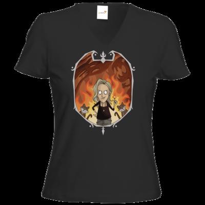 Motiv: T-Shirt Damen V-Neck Classic - oddstarving