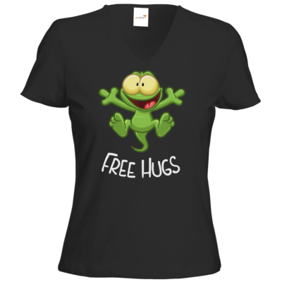 Motiv: T-Shirt Damen V-Neck Classic - FreeHugs