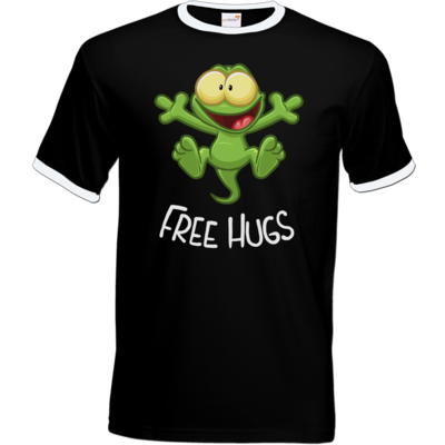 Motiv: T-Shirt Ringer - FreeHugs