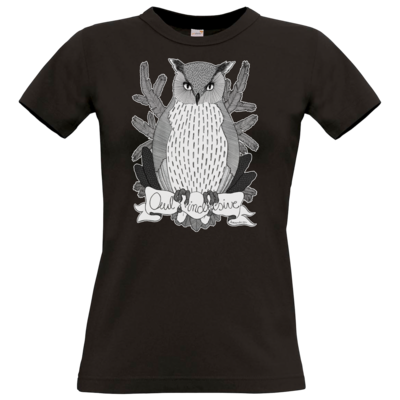 Motiv: T-Shirt Damen Premium FAIR WEAR - Owl Inclusive