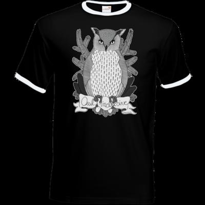 Motiv: T-Shirt Ringer - Owl Inclusive