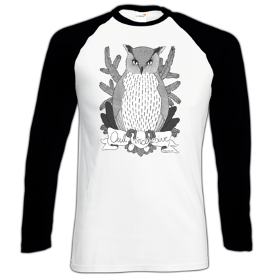 Motiv: Longsleeve Baseball T - Owl Inclusive