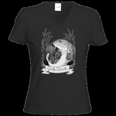Motiv: T-Shirt Damen V-Neck Classic - Geiler Dorsch