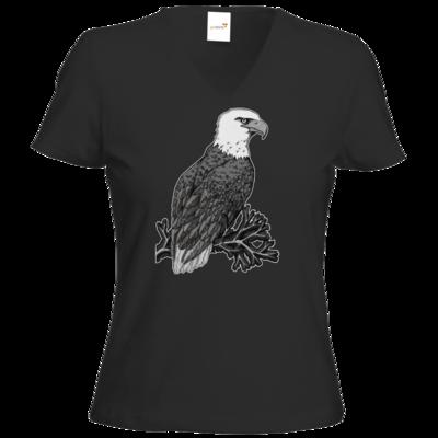Motiv: T-Shirt Damen V-Neck Classic - Adler