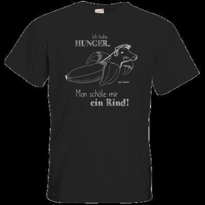 Motiv: T-Shirt Premium FAIR WEAR - SizzleBrothers - Grillen - Hunger Rind schälen