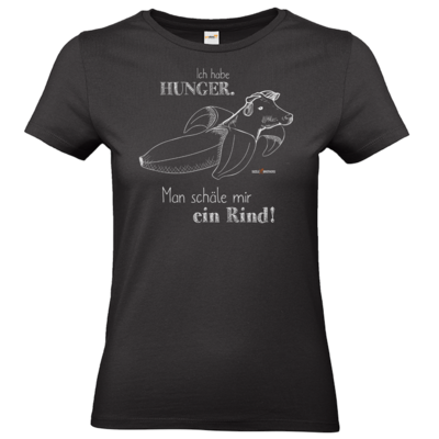 Motiv: T-Shirt Damen Premium FAIR WEAR - SizzleBrothers - Grillen - Hunger Rind schälen