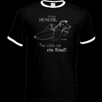 Motiv: T-Shirt Ringer - SizzleBrothers - Grillen - Hunger Rind schälen