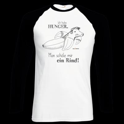 Motiv: Longsleeve Baseball T - SizzleBrothers - Grillen - Hunger Rind schälen