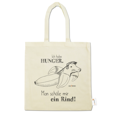 Motiv: Baumwolltasche - SizzleBrothers - Grillen - Hunger Rind schälen