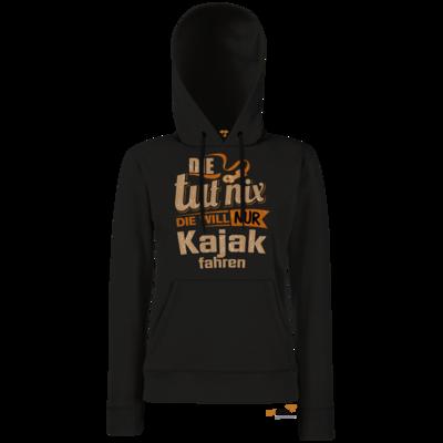 Motiv: Hoodie Damen Classic - Die tut nix - Die will nur Kajak