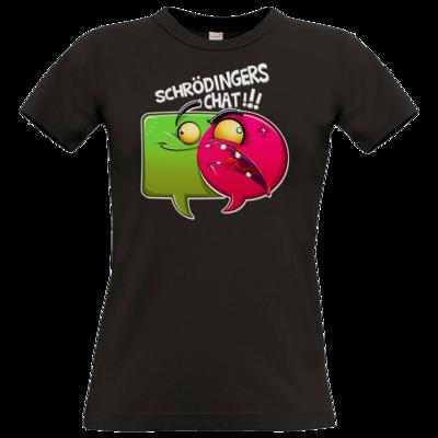 Motiv: T-Shirt Damen Premium FAIR WEAR - Schroedingers Chat