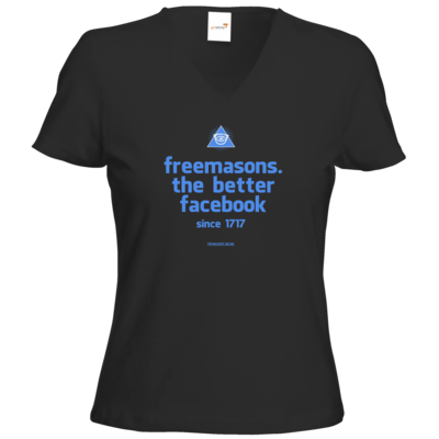 Motiv: T-Shirt Damen V-Neck Classic - freemasons