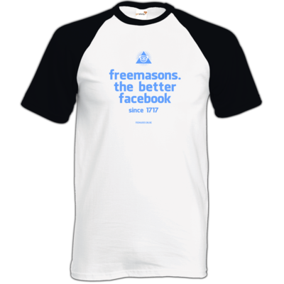 Motiv: TShirt Baseball - freemasons