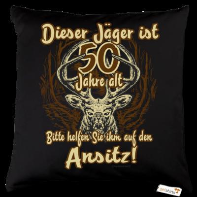 Motiv: Kissen Baumwolle - Jäger - 50 Jahre alt