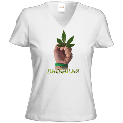 Motiv: T-Shirt Damen V-Neck Classic - Jiaogulan