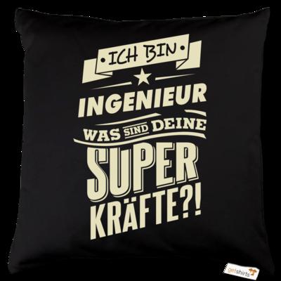 Motiv: Kissen Baumwolle - Superkraefte Ingenieur