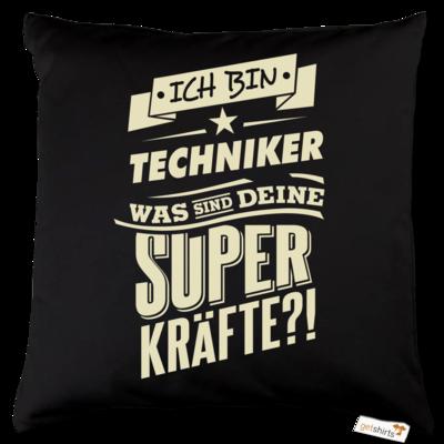 Motiv: Kissen Baumwolle - Superkraefte Techniker