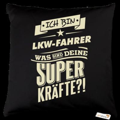 Motiv: Kissen Baumwolle - Superkraefte LKW-Fahrer