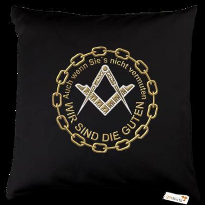 Motiv: Kissen Baumwolle - Freemasonry-Art - Wir sind die guten