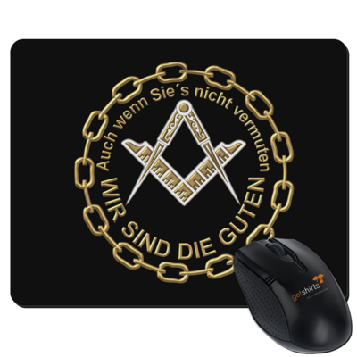 Motiv: Mousepad Textil - Freemasonry-Art - Wir sind die guten