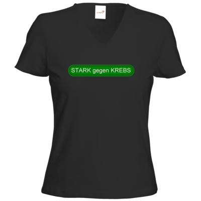 Motiv: T-Shirt Damen V-Neck Classic - STARK gegen KREBS