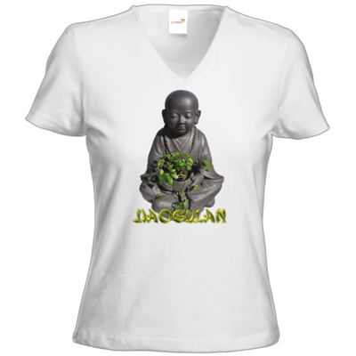 Motiv: T-Shirt Damen V-Neck Classic - Jiaogulan-Mönch