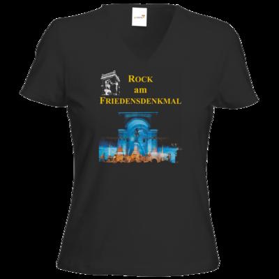 Motiv: T-Shirt Damen V-Neck Classic - Live blau
