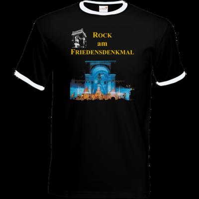 Motiv: T-Shirt Ringer - Live blau