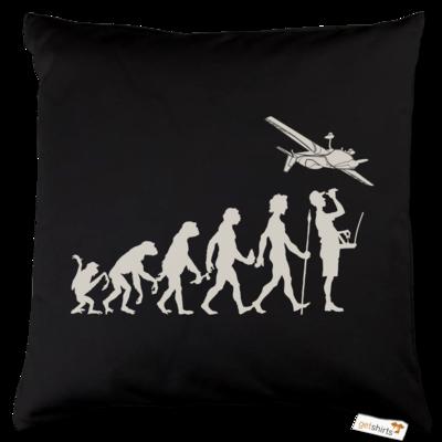 Motiv: Kissen Baumwolle - Modellflieger - Evolution
